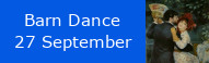 Harvest Barn Dance, 27 September at St Johns