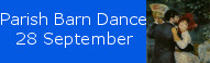 Parish Barn Dance at St Johns, 28 September